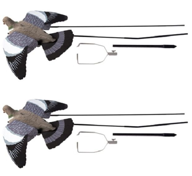2 x Ultimate Flying Pigeon Decoy + Bouncer Pigeon Shooting Decoying Terminator