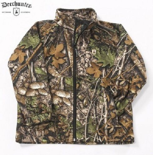 Age 8 Deerhunter Muntjac Fleece Camo Childrens Shooting Jacket Coat Waterproof