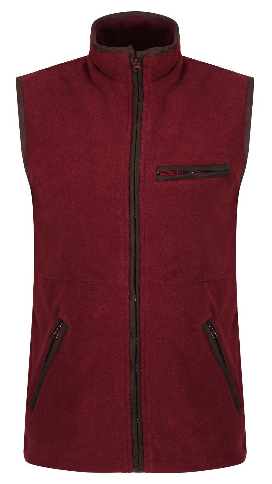 Quality Claret Fleece Gilet Shooting Body Warmer Vest Hunting Jumper Top New