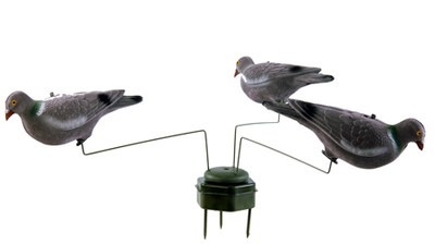 Triple Play 3 Pigeon Decoy Rotary Motion Unit Decoying Pigeon Shooting Decoys