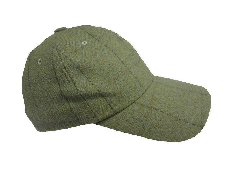 Wool Tweed Olive Heather Mens Baseball Tweed Cap Hat Hunting Shooting RRP 29 cbd402eea41